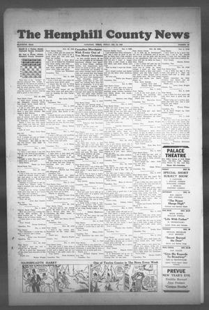 Primary view of object titled 'The Hemphill County News (Canadian, Tex), Vol. 11, No. 16, Ed. 1, Friday, December 24, 1948'.