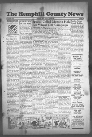 Primary view of The Hemphill County News (Canadian, Tex), Vol. 11, No. 40, Ed. 1, Friday, June 10, 1949