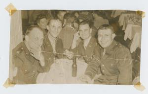 Primary view of object titled '[Four Soldiers at Table]'.
