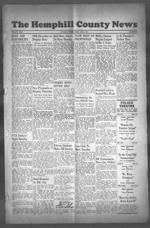 Primary view of object titled 'The Hemphill County News (Canadian, Tex), Vol. TWELFTH YEAR, No. 18, Ed. 1, Friday, January 6, 1950'.