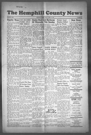 Primary view of object titled 'The Hemphill County News (Canadian, Tex), Vol. TWELFTH YEAR, No. 32, Ed. 1, Friday, April 14, 1950'.