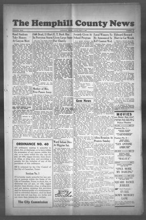 Primary view of object titled 'The Hemphill County News (Canadian, Tex), Vol. TWELFTH YEAR, No. 35, Ed. 1, Friday, May 5, 1950'.