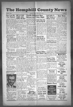 Primary view of object titled 'The Hemphill County News (Canadian, Tex), Vol. TWELFTH YEAR, No. 37, Ed. 1, Friday, May 19, 1950'.