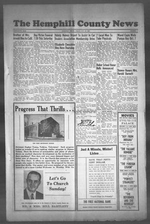 Primary view of object titled 'The Hemphill County News (Canadian, Tex), Vol. THIRTEENTH YEAR, No. 7, Ed. 1, Friday, October 20, 1950'.