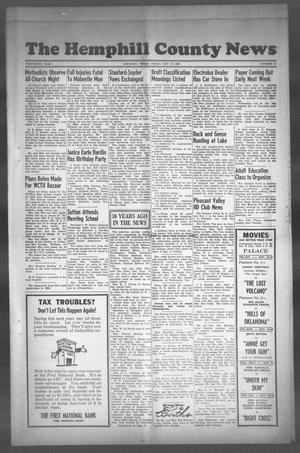 Primary view of object titled 'The Hemphill County News (Canadian, Tex), Vol. THIRTEENTH YEAR, No. 11, Ed. 1, Friday, November 17, 1950'.