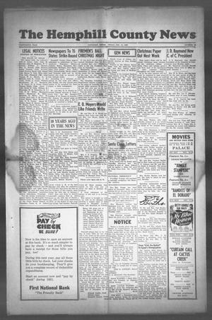Primary view of object titled 'The Hemphill County News (Canadian, Tex), Vol. THIRTEENTH YEAR, No. 15, Ed. 1, Friday, December 15, 1950'.