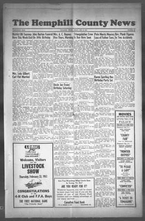 Primary view of object titled 'The Hemphill County News (Canadian, Tex), Vol. THIRTEENTH YEAR, No. 24, Ed. 1, Friday, February 16, 1951'.