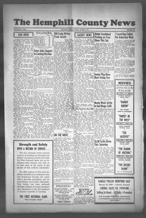 Primary view of object titled 'The Hemphill County News (Canadian, Tex), Vol. THIRTEENTH YEAR, No. 27, Ed. 1, Friday, March 9, 1951'.