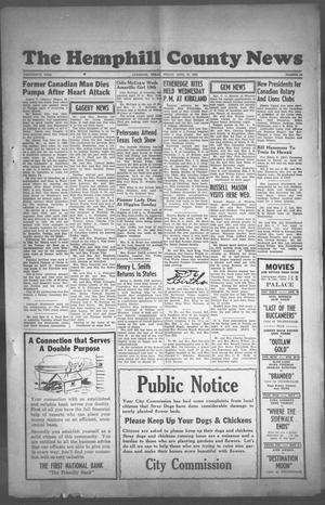 Primary view of object titled 'The Hemphill County News (Canadian, Tex), Vol. THIRTEENTH YEAR, No. 34, Ed. 1, Friday, April 27, 1951'.