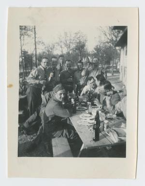 [Soldiers at a Picnic Table]
