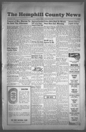 Primary view of object titled 'The Hemphill County News (Canadian, Tex), Vol. FOURTEENTH YEAR, No. 3, Ed. 1, Tuesday, September 25, 1951'.