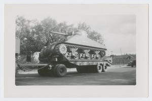 Primary view of object titled '[Tank on a Flatbed Trailer]'.