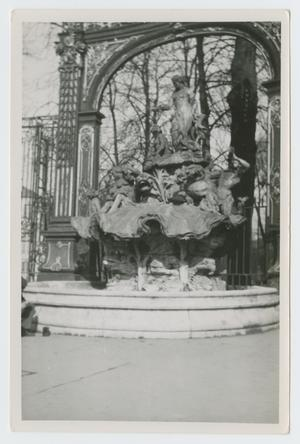 Primary view of object titled '[Statue in Fountain]'.