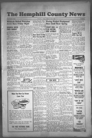 Primary view of object titled 'The Hemphill County News (Canadian, Tex), Vol. FOURTEENTH YEAR, No. 4, Ed. 1, Tuesday, October 2, 1951'.