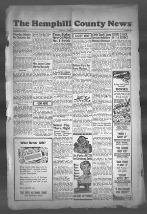 Primary view of object titled 'The Hemphill County News (Canadian, Tex), Vol. FOURTEENTH YEAR, No. 15, Ed. 1, Tuesday, December 18, 1951'.
