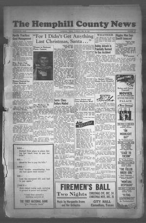 The Hemphill County News (Canadian, Tex), Vol. FOURTEENTH YEAR, No. 16, Ed. 1, Tuesday, December 25, 1951