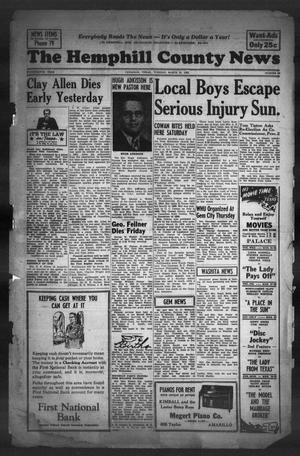 The Hemphill County News (Canadian, Tex), Vol. 14, No. 29, Ed. 1, Tuesday, March 25, 1952