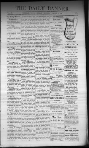 Primary view of object titled 'The Daily Banner. (Brenham, Tex.), Vol. 4, No. 5, Ed. 1 Sunday, January 5, 1879'.