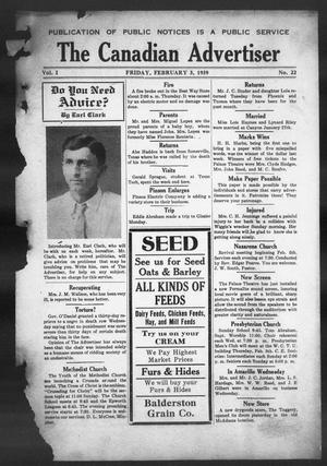 The Canadian Advertiser (Canadian, Tex), Vol. 1, No. 22, Ed. 1, Friday, February 3, 1939