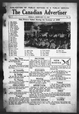 The Canadian Advertiser (Canadian, Tex), Vol. 1, No. 24, Ed. 1, Friday, February 17, 1939