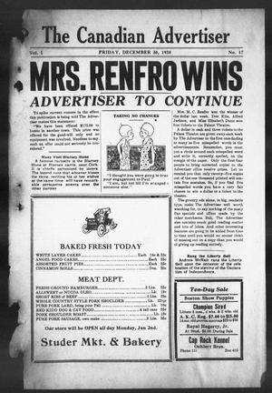 The Canadian Advertiser (Canadian, Tex), Vol. 1, No. 17, Ed. 1, Friday, December 30, 1938