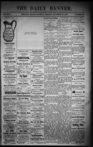 Primary view of object titled 'The Daily Banner. (Brenham, Tex.), Vol. 5, No. 278, Ed. 1 Saturday, November 13, 1880'.
