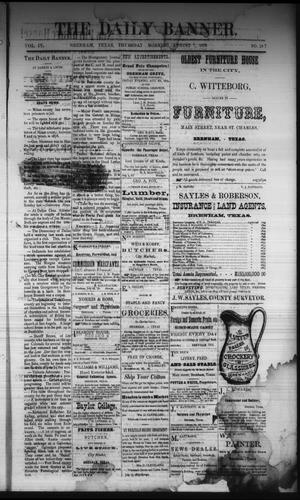 Primary view of object titled 'The Daily Banner. (Brenham, Tex.), Vol. 4, No. 187, Ed. 1 Thursday, August 7, 1879'.