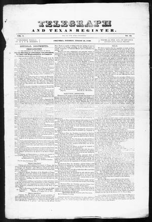 Telegraph and Texas Register (Columbia, Tex.), Vol. 1, No. 25, Ed. 1, Tuesday, August 16, 1836