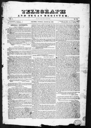 Telegraph and Texas Register (Columbia, Tex.), Vol. 1, No. 26, Ed. 1, Tuesday, August 23, 1836