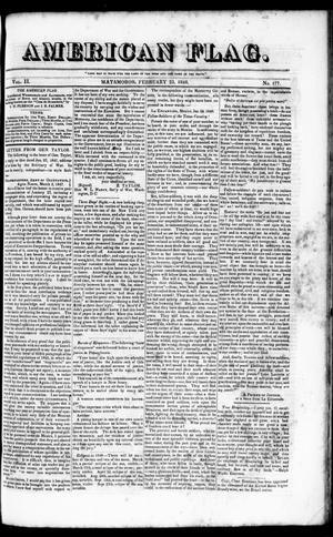 Primary view of American Flag. (Matamoros, Tamaulipas, Mexico), Vol. 2, No. 177, Ed. 1 Wednesday, February 23, 1848