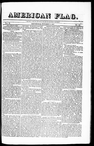 Primary view of American Flag. (Matamoros, Tamaulipas, Mexico), Vol. 2, No. 138, Ed. 1 Saturday, October 2, 1847