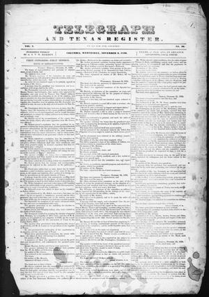 Primary view of Telegraph and Texas Register (Columbia, Tex.), Vol. 1, No. 36, Ed. 1, Wednesday, November 2, 1836