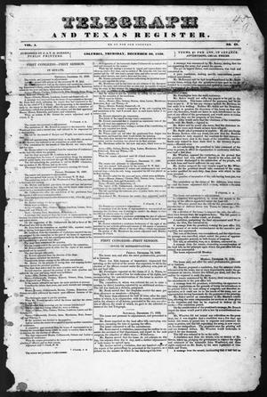 Primary view of object titled 'Telegraph and Texas Register (Columbia, Tex.), Vol. 1, No. 48, Ed. 1, Thursday, December 22, 1836'.