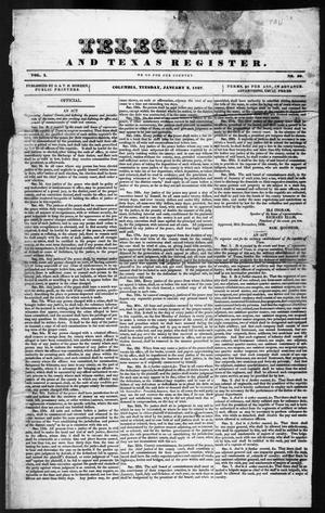 Telegraph and Texas Register (Columbia, Tex.), Vol. 1, No. 50, Ed. 1, Tuesday, January 3, 1837