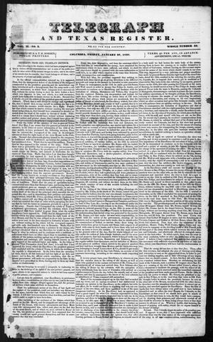 Primary view of object titled 'Telegraph and Texas Register (Columbia, Tex.), Vol. 2, No. 3, Ed. 1, Friday, January 27, 1837'.