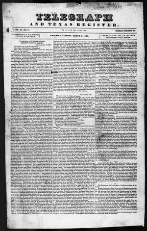 Telegraph and Texas Register (Columbia, Tex.), Vol. 2, No. 9, Ed. 1, Tuesday, March 7, 1837
