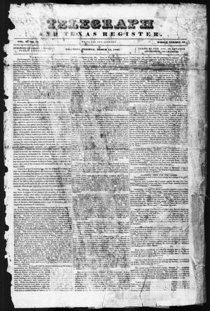 Telegraph and Texas Register (Columbia, Tex.), Vol. 2, No. 10, Ed. 1, Tuesday, March 14, 1837