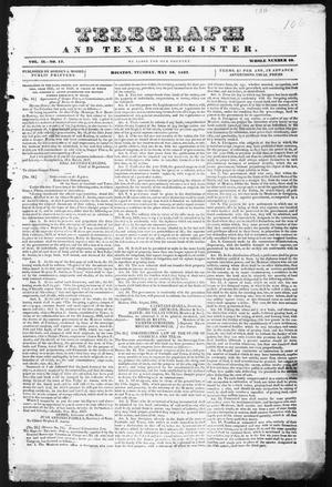 Primary view of Telegraph and Texas Register (Houston, Tex.), Vol. 2, No. 17, Ed. 1, Tuesday, May 16, 1837