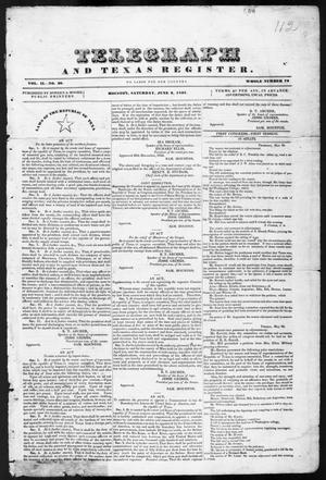 Telegraph and Texas Register (Houston, Tex.), Vol. 2, No. 20, Ed. 1, Saturday, June 3, 1837