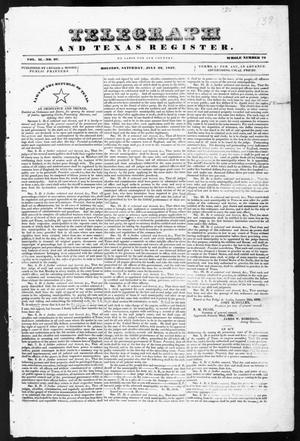 Telegraph and Texas Register (Houston, Tex.), Vol. 2, No. 27, Ed. 1, Saturday, July 22, 1837