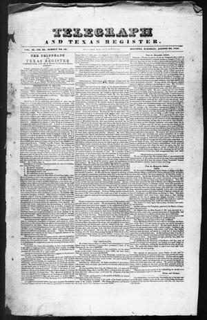 Telegraph and Texas Register (Houston, Tex.), Vol. 2, No. 32, Ed. 1, Tuesday, August 22, 1837