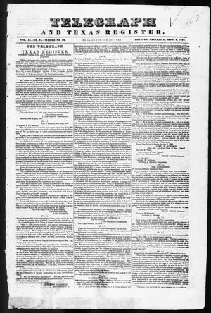 Primary view of object titled 'Telegraph and Texas Register (Houston, Tex.), Vol. 2, No. 34, Ed. 1, Saturday, September 2, 1837'.