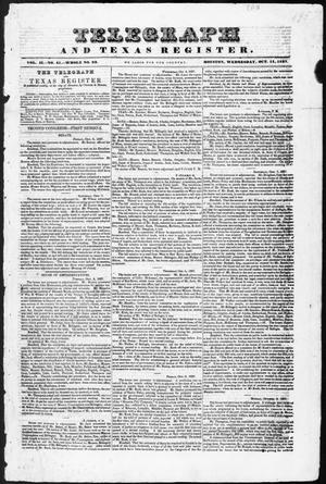 Telegraph and Texas Register (Houston, Tex.), Vol. 2, No. 41, Ed. 1, Wednesday, October 11, 1837