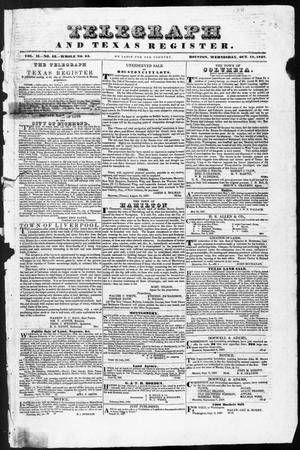 Telegraph and Texas Register (Houston, Tex.), Vol. 2, No. 43, Ed. 1, Wednesday, October 18, 1837