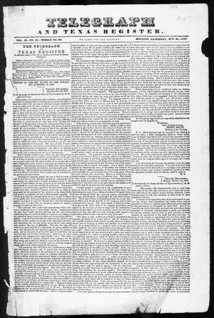 Primary view of object titled 'Telegraph and Texas Register (Houston, Tex.), Vol. 2, No. 44, Ed. 1, Saturday, October 21, 1837'.
