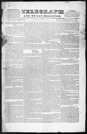 Primary view of object titled 'Telegraph and Texas Register (Houston, Tex.), Vol. 2, No. 47, Ed. 1, Saturday, November 11, 1837'.