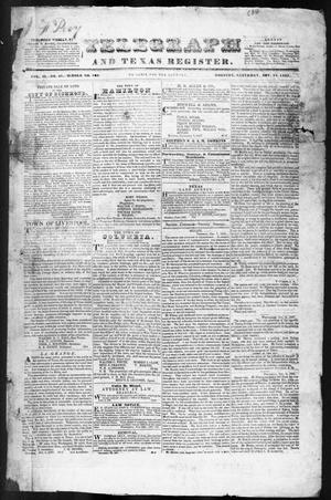 Primary view of object titled 'Telegraph and Texas Register (Houston, Tex.), Vol. 2, No. 48, Ed. 1, Saturday, November 18, 1837'.