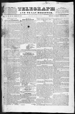 Telegraph and Texas Register (Houston, Tex.), Vol. 2, No. 49, Ed. 1, Saturday, November 25, 1837