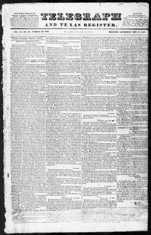 Primary view of object titled 'Telegraph and Texas Register (Houston, Tex.), Vol. 2, No. 50, Ed. 1, Saturday, December 2, 1837'.