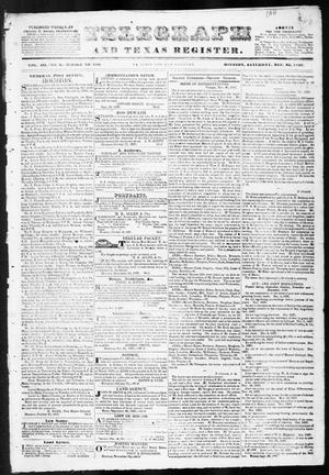 Primary view of object titled 'Telegraph and Texas Register (Houston, Tex.), Vol. 3, No. 2, Ed. 1, Saturday, December 23, 1837'.